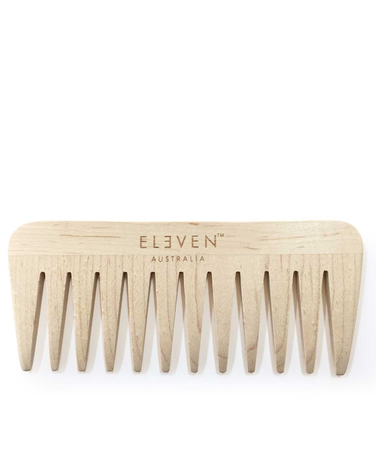 Eleven Wooden Wide Tooth Comb