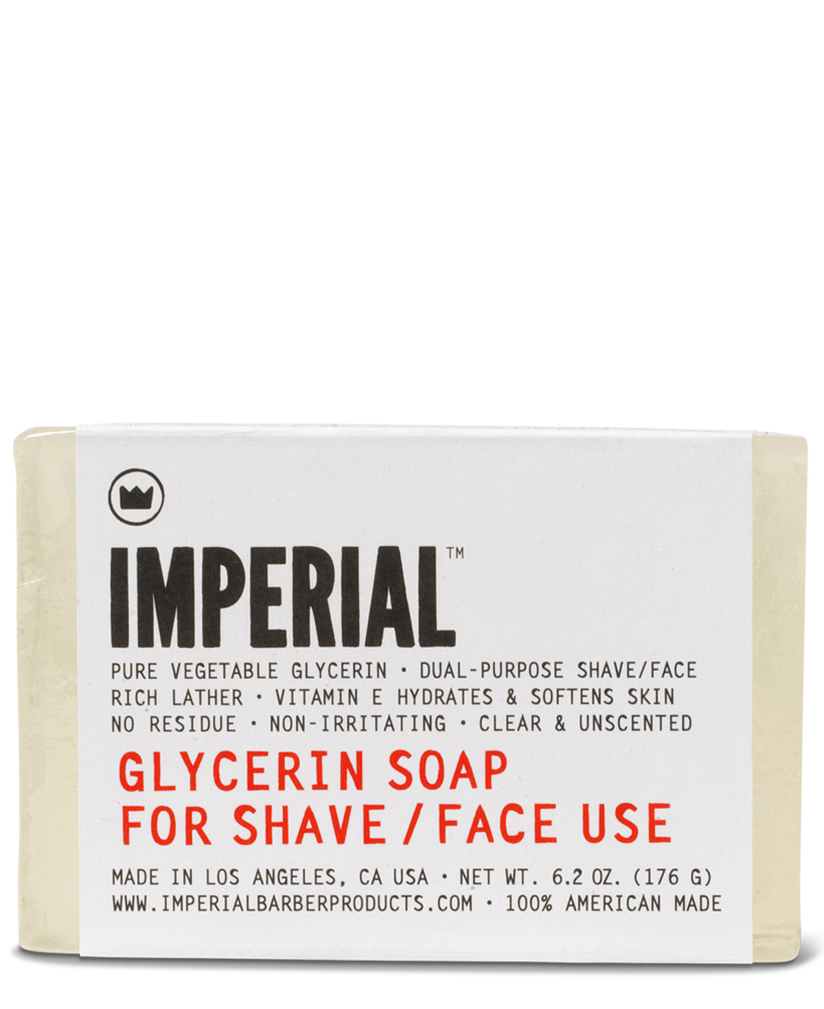 Imperial Glycerin Shave/Face Soap (Bar) 176g