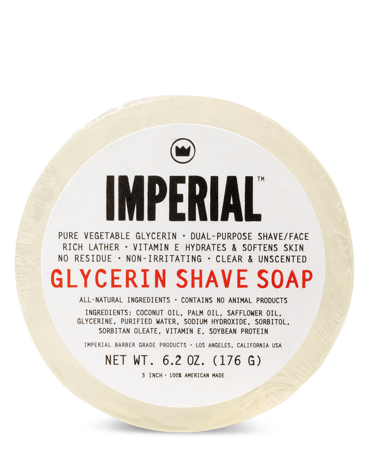 Imperial Glycerin Shave Soap (Puck) 176g