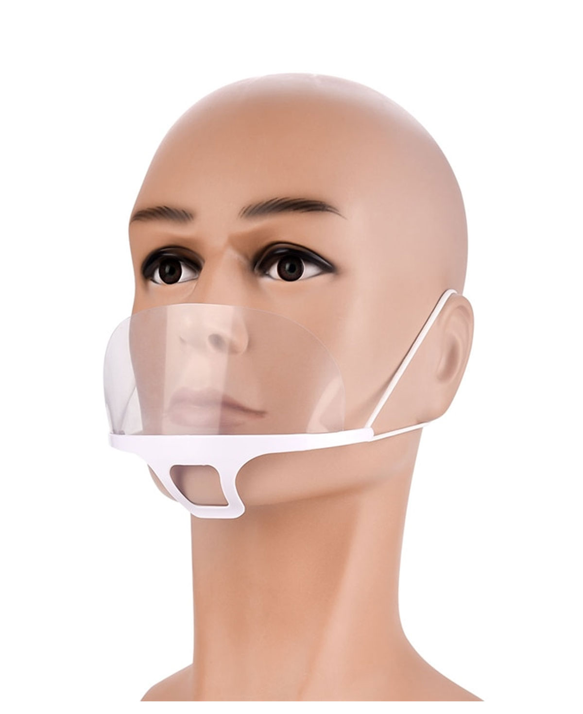 Plastic clear Mouth shield 10 Stk.