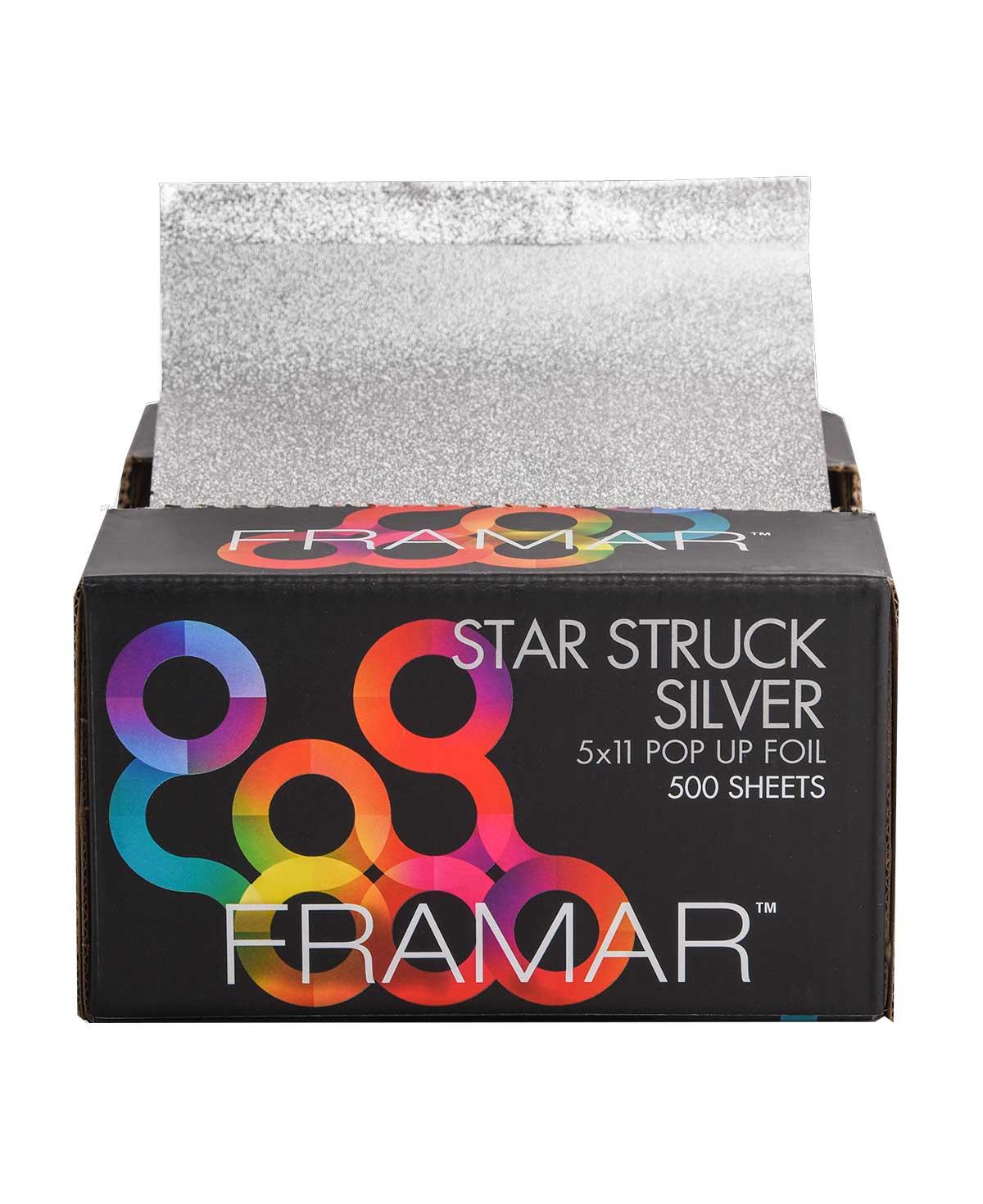 Framar Star Struck Silver 5x11 Pop Up Foil - 500 Sheets
