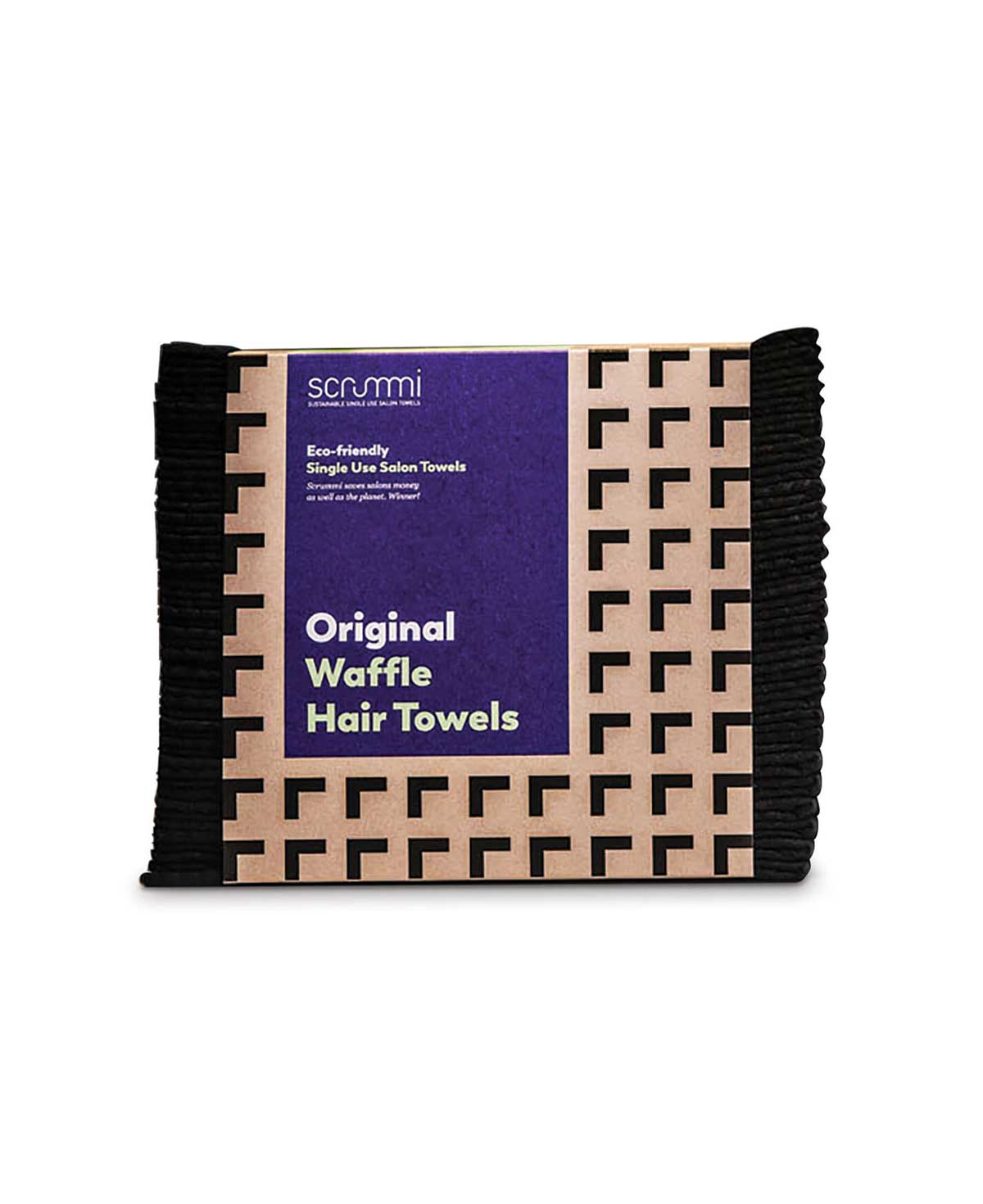 Scrummi Waffle Black Hair Towels, 80x40cm, 70 Stk.