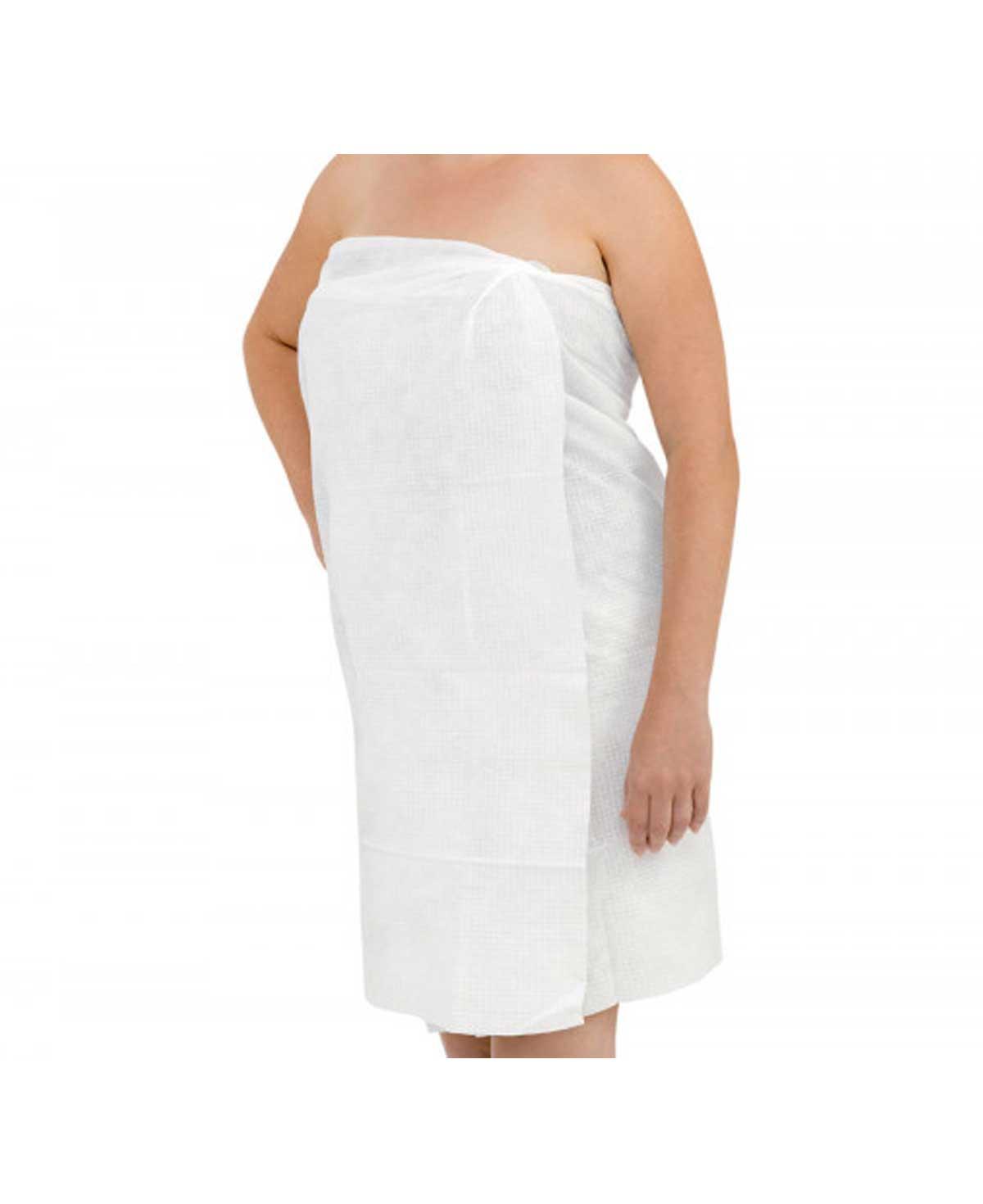 Scrummi Waffle White Body Towels, 80x140cm, 100 Stk.